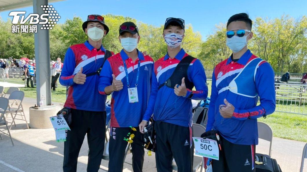 台灣射箭男團將與日本爭奪銅牌。(圖/中央社) 射箭世錦賽 台灣反曲弓男團將與日本爭銅
