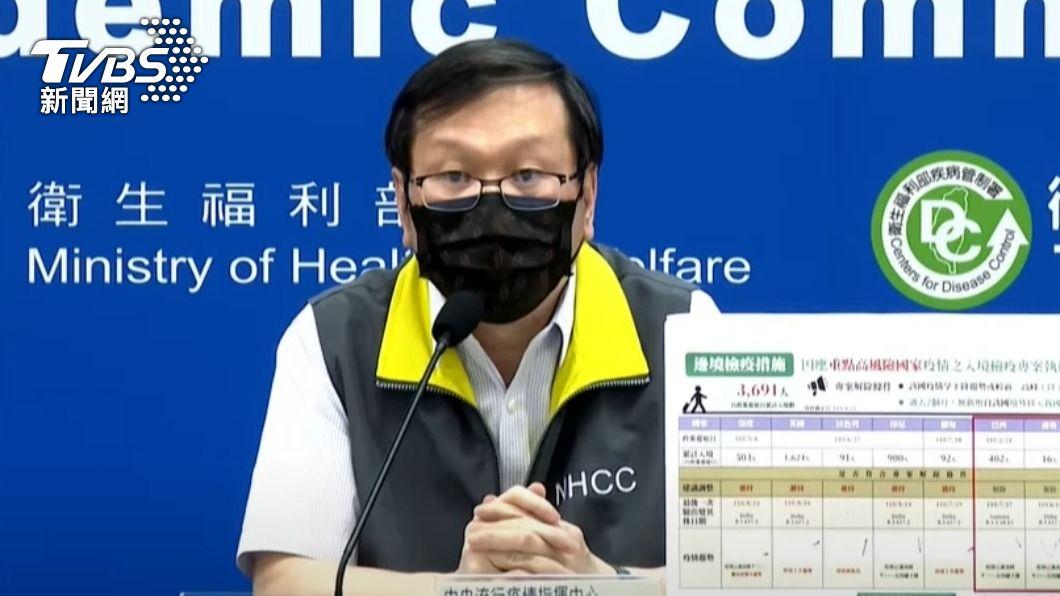 指揮中心發言人莊人祥。(圖/TVBS) 鴻海子公司員工染疫 「暫不列確診」莊人祥曝原因