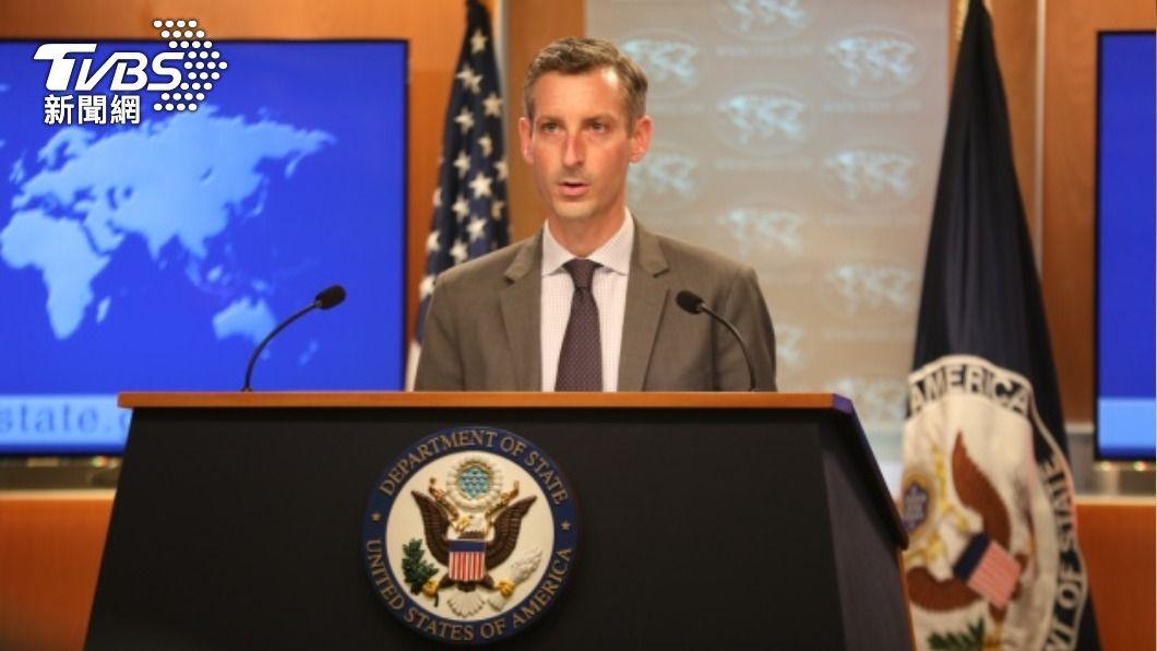 美國國務院發言人普萊斯。(圖/中央社) 兩岸爭取加入CPTPP 美國稱讚台灣批中國大陸