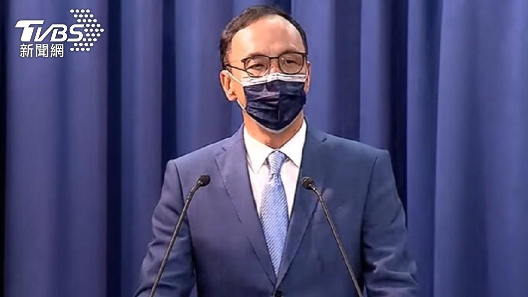 朱立倫當選黨主席發表談話。(圖/TVBS) 重掌國民黨!朱立倫喊:民進黨要擔心了 明起將走遍全台