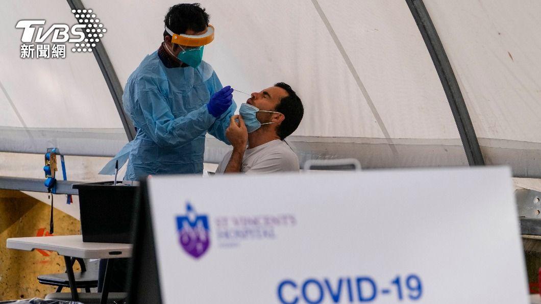 澳洲目前受到Delta變異株肆虐。(圖/達志影像美聯社) 澳洲力拚疫苗覆蓋率 維州新增病例創州史第2高