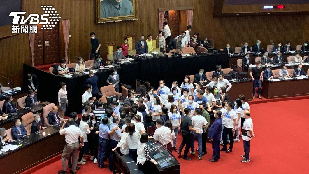 立法院議場。(圖/TVBS) 立法院又空轉一天!藍委為杯葛蘇貞昌 與綠委爆衝突