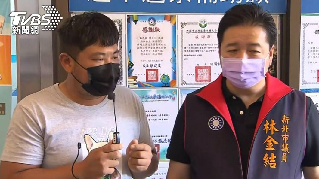 林金結大嫂打到未稀釋BNT與侄子一起受訪。(圖/TVBS) 嚇到手抖!林金結大嫂誤打未稀釋BNT「像在交代後事」