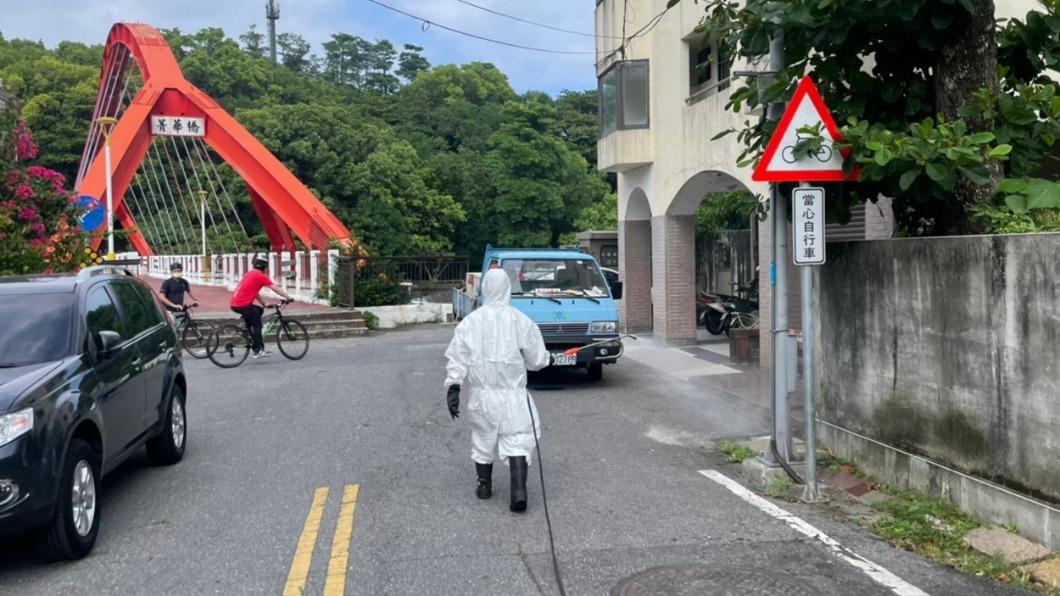 縣府完成住家附近的清消。(圖/TVBS) 北市確診男「花蓮待5天」 完整足跡曝光