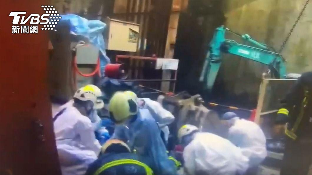 捷運萬大線工程出工安意外。(圖/TVBS) 萬大線工程出意外!63歲工人遭機器夾頭 送醫搶救不治