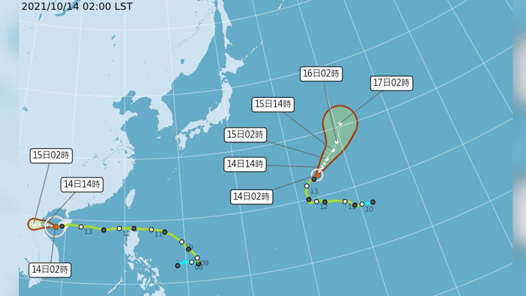圖/中央氣象局 圓規漸遠離仍豪大雨警戒 周六首波東北季風報到!溫度驟降至16度!