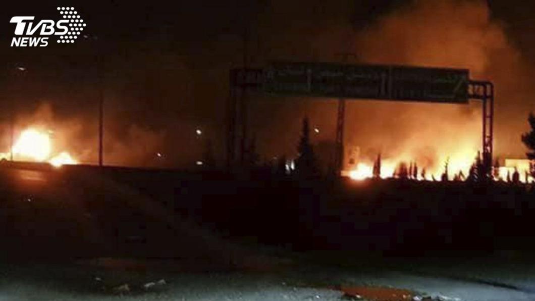 以色列空襲敘利亞通訊塔造成4死7傷。(示意圖/TVBS) 以色列空襲敘利亞中部 4死7傷