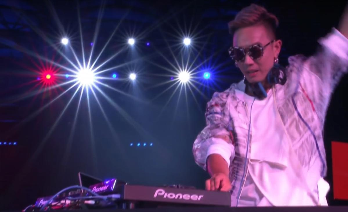 林哲儀以台灣DJ身份成為世大運的壓軸演出。(翻攝華視)