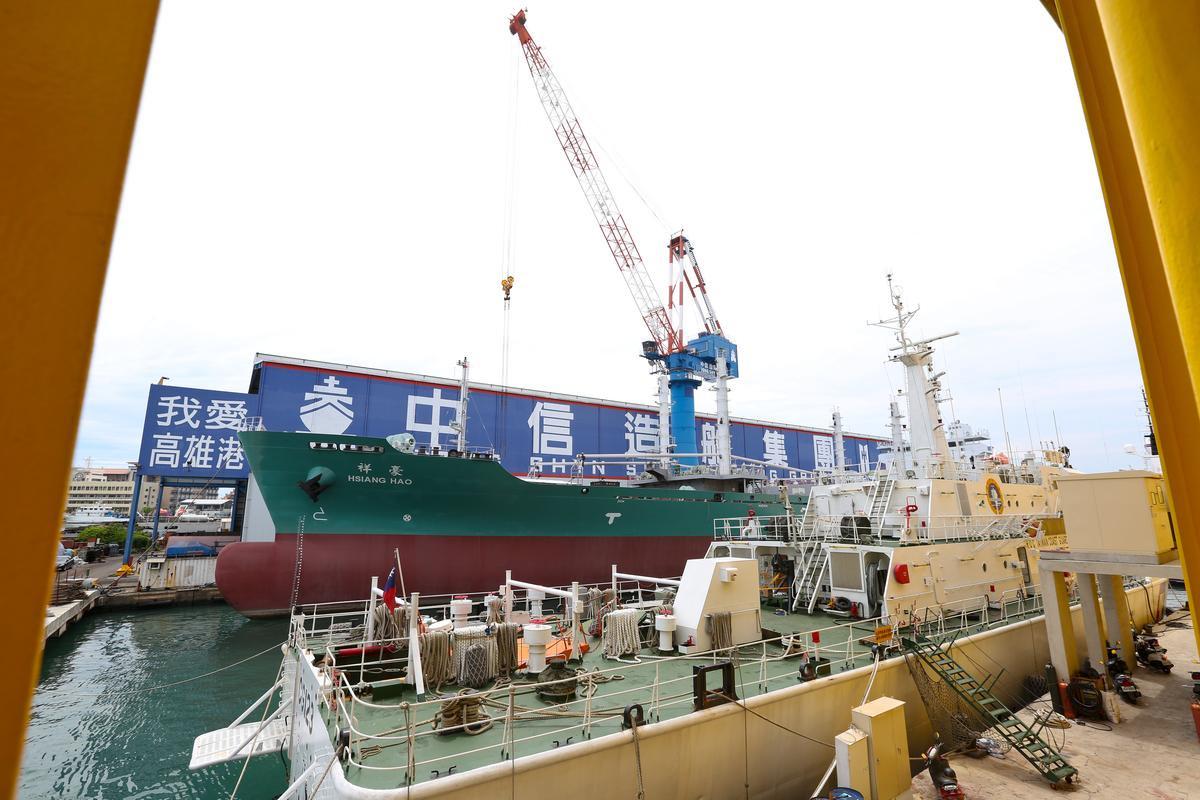 韓碧祥的名下10多艘船以漁船為主,都由他命名。