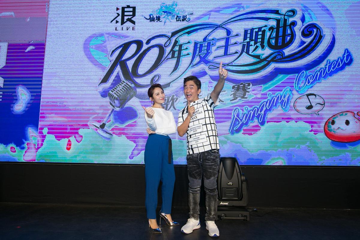 梁文音及吳宗憲出席「浪LIVE RO年度主題曲歌者大賽」擔任評審挖掘才華新人。(浪LIVE提供)