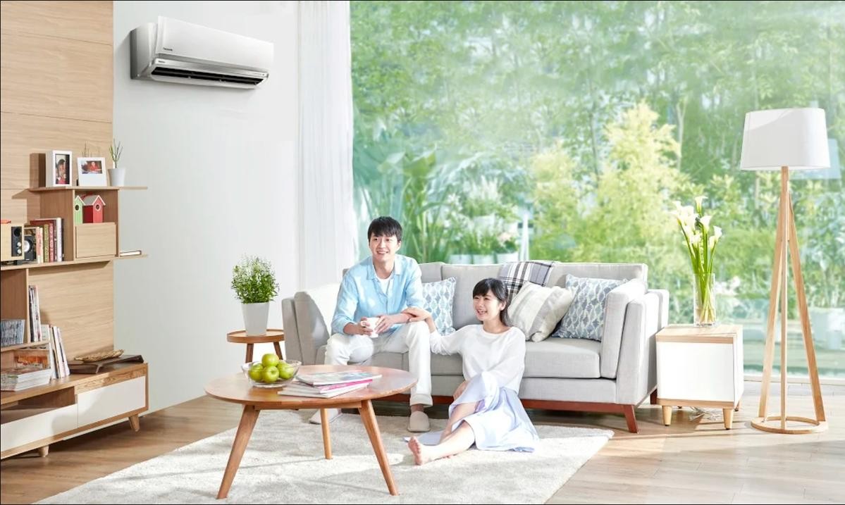 福原愛和江宏傑讓廣告拍攝現場充滿甜蜜氣氛。(台灣松下提供)