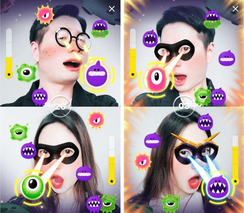 免費視訊通話遊戲 用臉就可打game!
