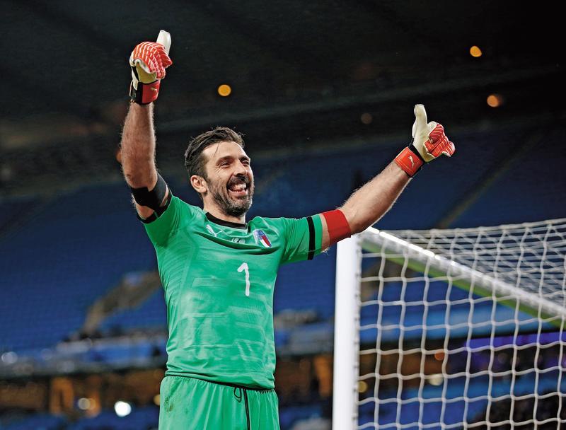 義大利確定無緣今年世界盃後,40歲門將布馮(Buffon)宣布退出國家隊。圖/東方IC 2018世足賽3強成遺珠 本屆無緣