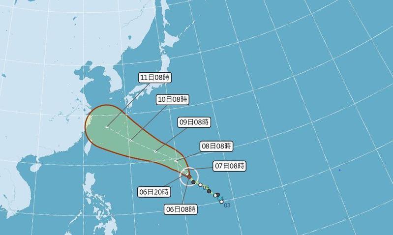 圖/鏡週刊 中颱瑪莉亞成長快速 台日均預測「恐跨越強颱標準」