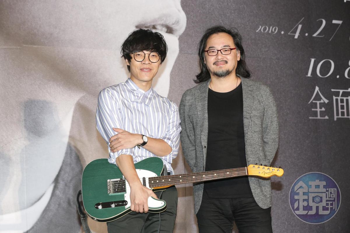 盧廣仲的老闆鍾成虎送上訂製吉他,兩人一路相挺走到今天。