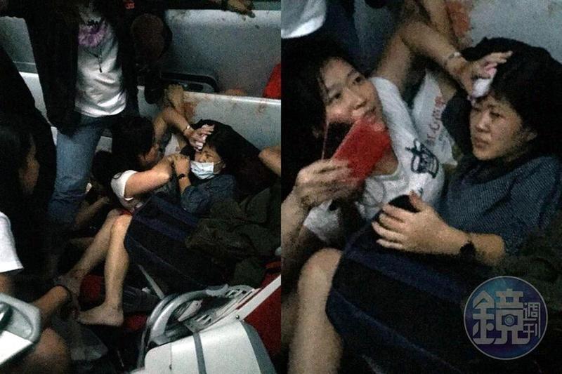 受傷乘客堆疊、座位染血 普悠瑪翻覆車廂內畫面曝光