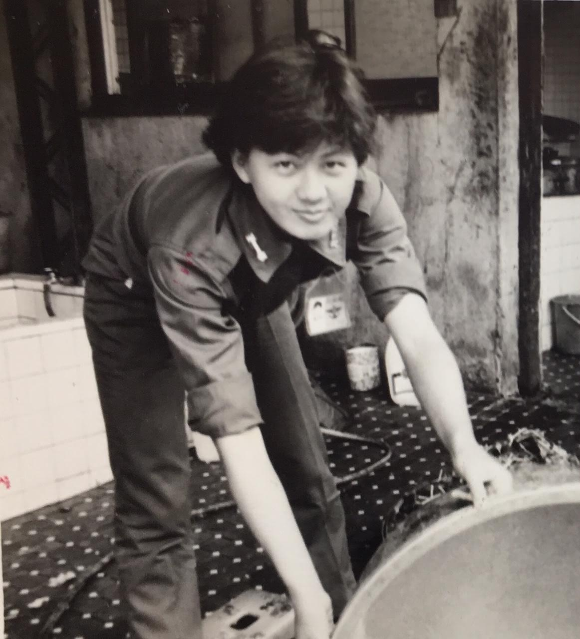 涂善妮多年前入伍的美照。(TVBS提供)