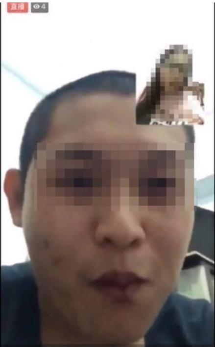 陳姓男子開直播讓女童吸菸、吃檳榔,惡劣行徑被網友側錄。(翻攝畫面)