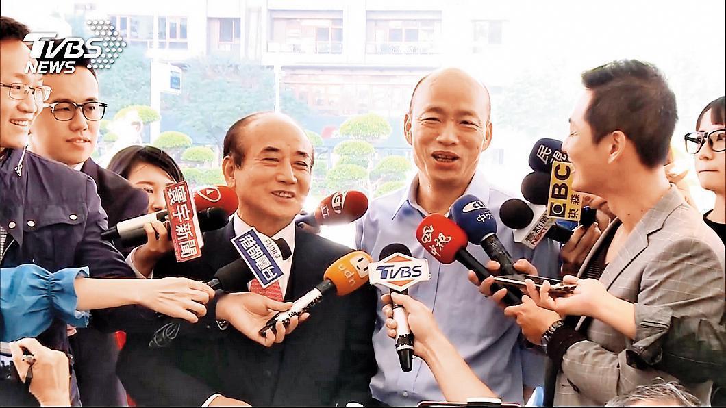 王金平與高雄市長韓國瑜互動頻繁,未來韓流將是一大助益。(翻攝TVBS)