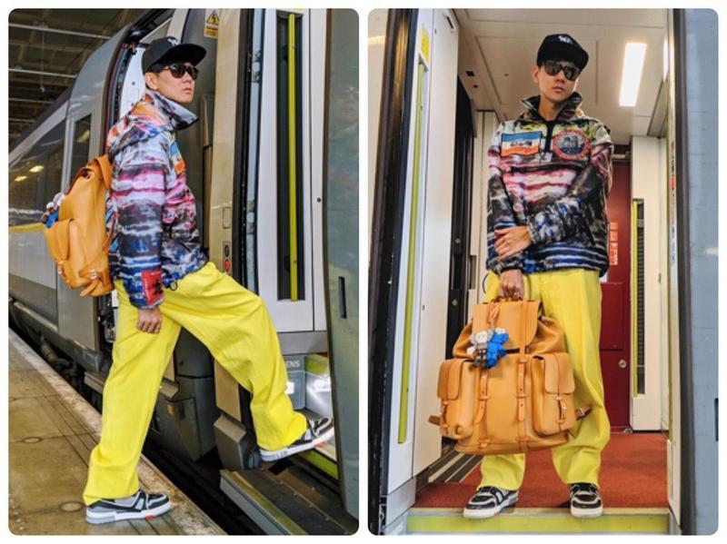 林俊傑50萬元行頭赴法看秀 深夜騎滑板車遊巴黎