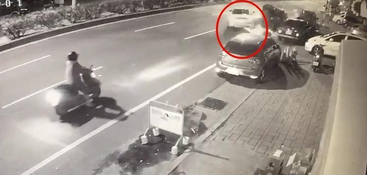 陳男酒駕不知悔改,凌晨駕駛休旅車逆向開到對向車道,撞死兩人引起眾怒。(警方提供)