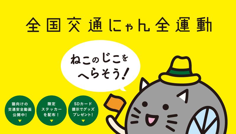 世界首見「貓語」 日本推喵星人專用交通安全宣導片