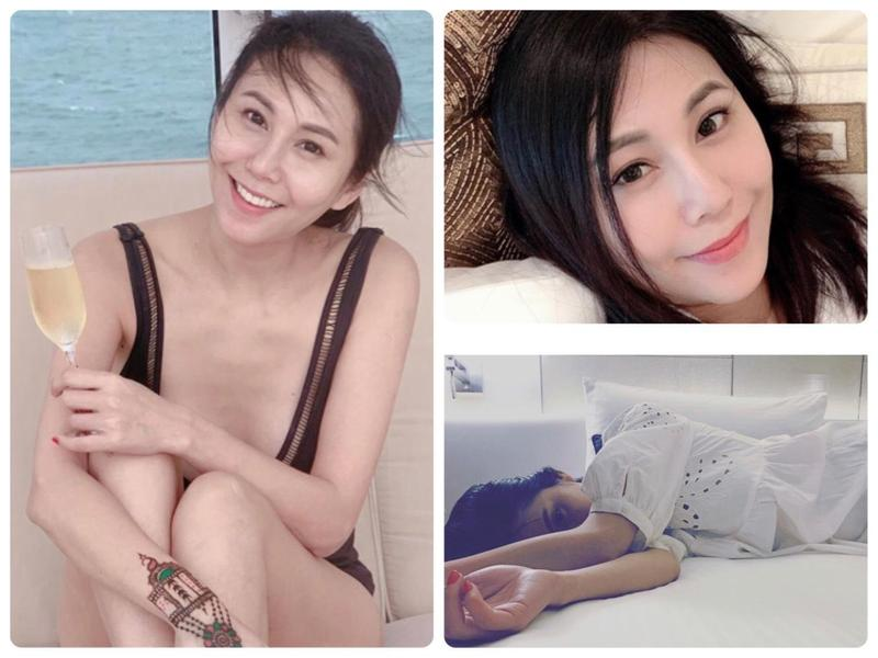圖/鏡週刊 洪曉蕾超低胸泳裝出海 年過40依然辣又正