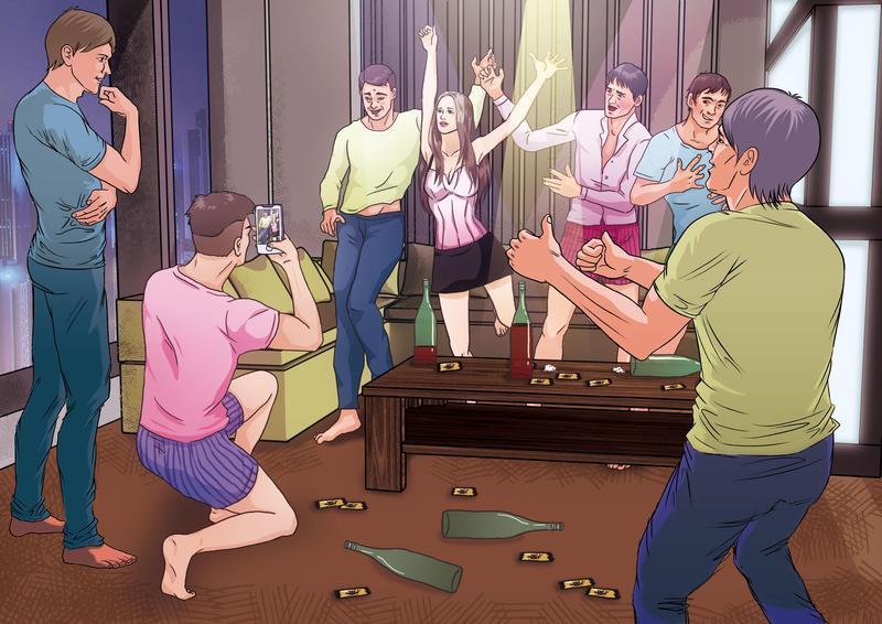 圖/鏡週刊 土豪哥翻版6男1女開房間 她只穿小內褲陳屍在床