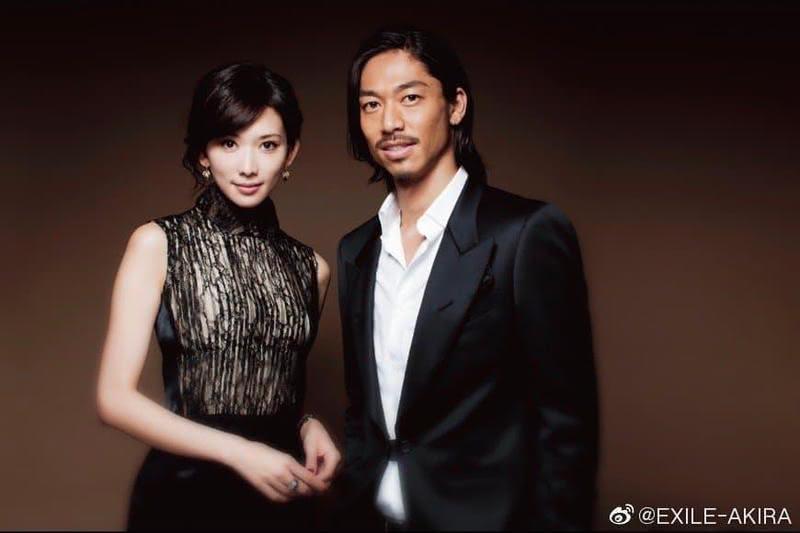 台灣第一名模林志玲6月閃嫁日本男團「放浪兄弟」成員Akira。圖/翻攝自Akira微博
