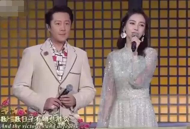 今年央視秋晚Angelababy被安排與蔡國慶合唱《回家的路》。(翻攝自微博)