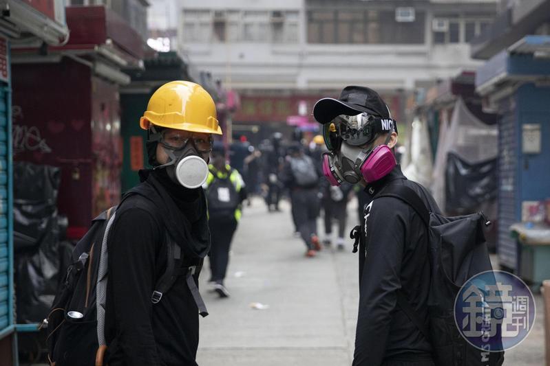 圖/鏡週刊提供 港府頒布《禁蒙面法》 違反者關1年