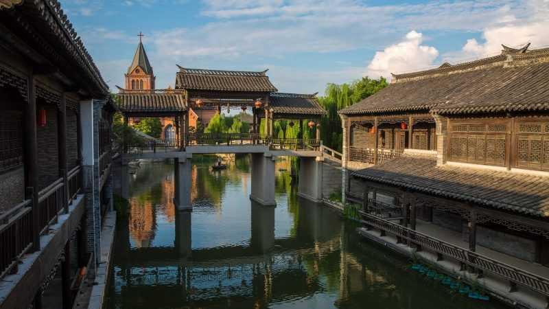台兒莊區為山東省棗莊市轄區。位於山東省的最南部,是山東南大門,是中國運河文化史上的活化石,是中國民居建築博物館。(圖由山東旅遊局提供)