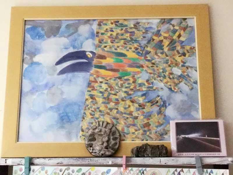 老鷹畫作注入很多的想像空間
