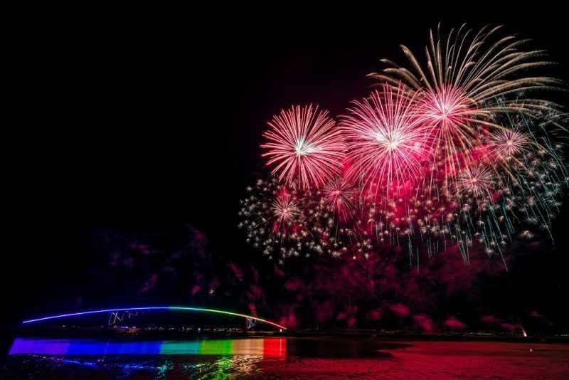 「旅食樂」與ezfly易飛網合作,推出「澎湖花火節」遊程,只要在ezfly的行程備註打上「旅食樂」三個字,就能夠享有全台最多的500元折扣。(取自Wei-Te Wong@flicker)