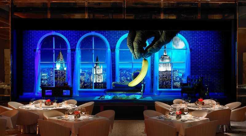 相當逗趣的3D投影秀,是澳門酒店特有的用餐風格。