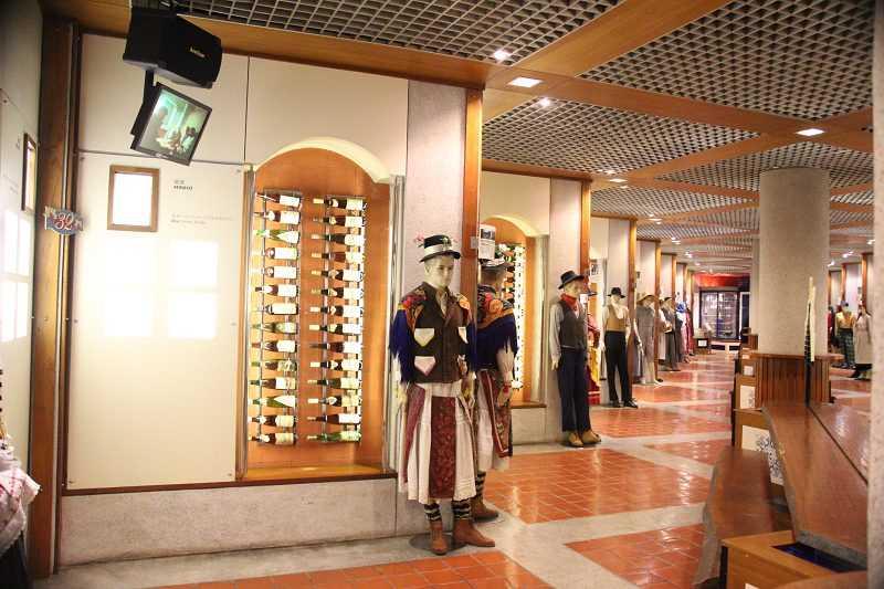 葡萄酒博物館內介紹葡萄牙不同產區的葡萄酒特色