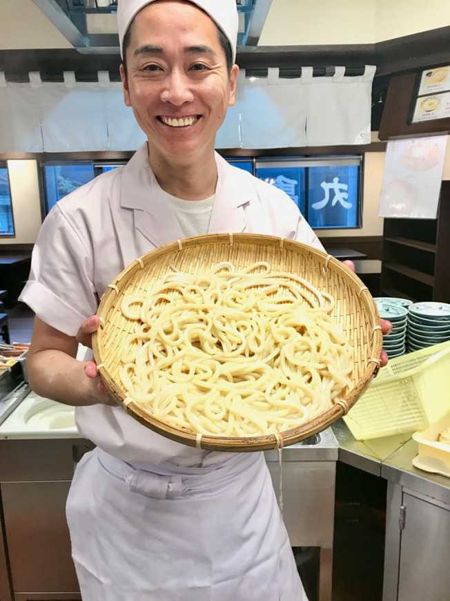 丸亀製麵臺灣區執行副總經理久田裕史,邀請臺灣朋友一起歡慶五周年。