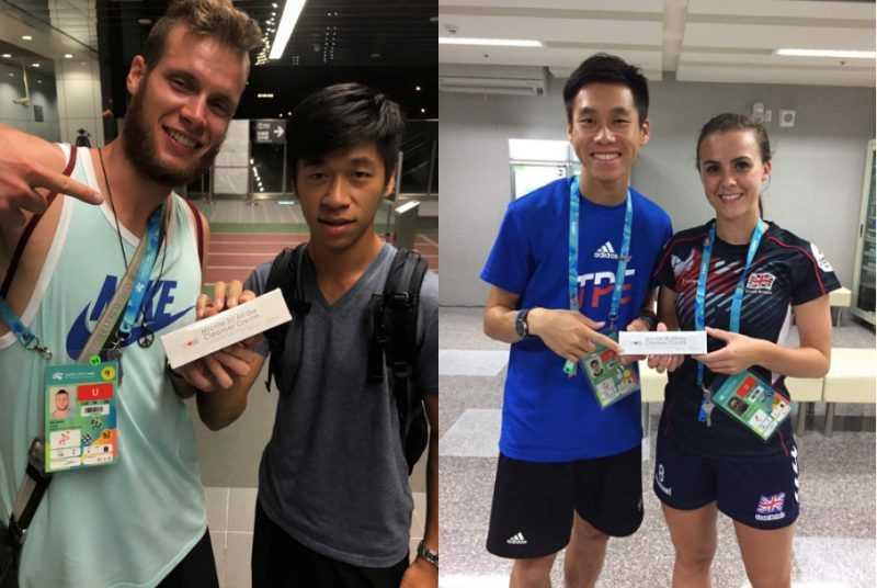 洗顏霜被選手拿來當交換禮物贈送給外國選手(廠商提供)