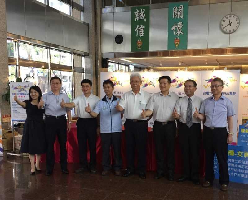 體育署周國金專門委員(左四)、台電董事長朱文成(右四)與蒞臨貴賓合影