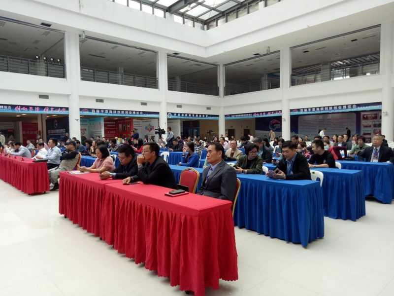 包括120家雙創大賽優質項目參展者,及主、協辦單位多位領導皆出席參與開幕典禮。(鄧至傑攝)