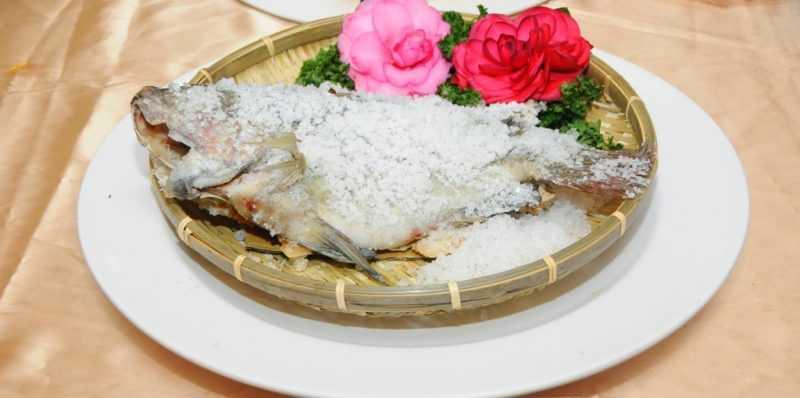 小江正宗水庫活魚餐廳推出「鹽烤台灣鯛」