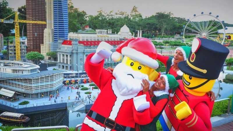 樂高聖誕老公公將與園內民眾同樂。(主辦單位提供)