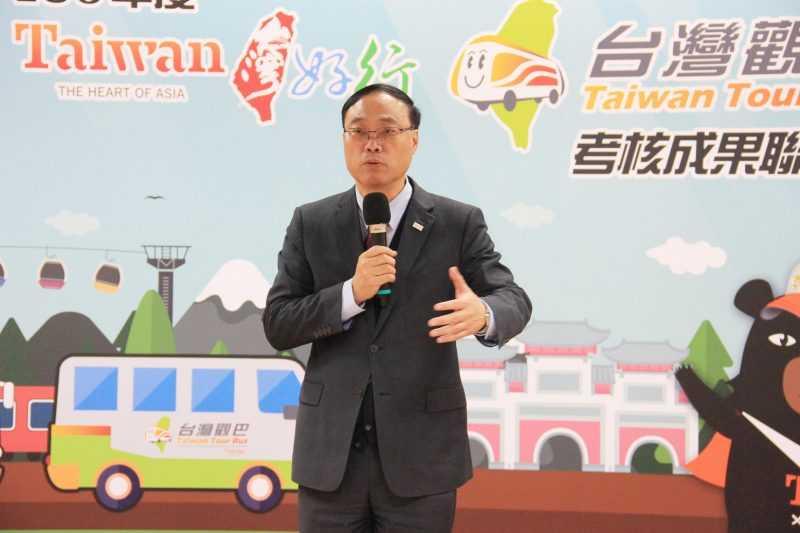 觀光局長周永暉提出願景,期待從去年的370萬人,提升15%到425萬人次。 (1)
