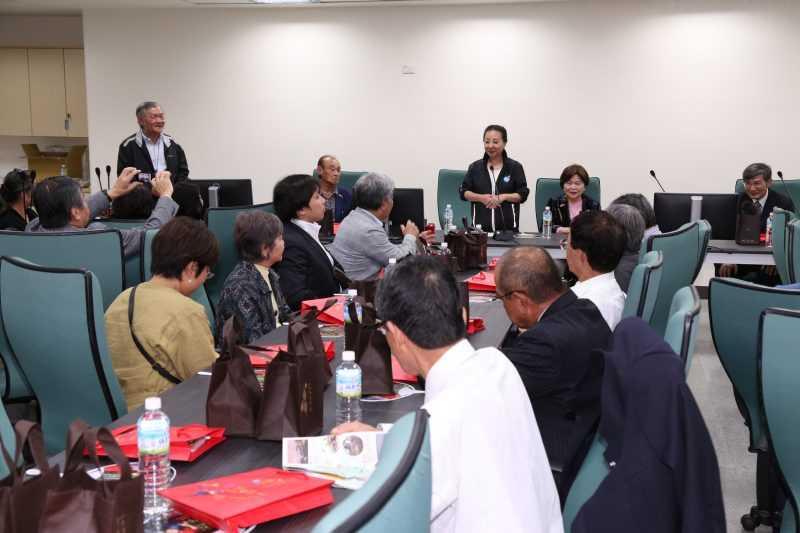 那霸友臺親善協會履行承諾參訪台灣燈會,張花冠指出,日本一直與台灣保持友好的互動,嘉義縣也一直與日本維繫良好的合作關係。(嘉義縣政府提供)