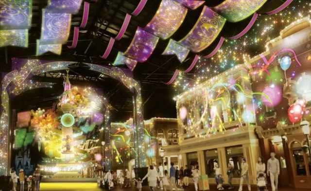 ▲世界市集的大街將成為 35 周年慶的「喜慶大街」,展露異於平時的華麗風采。(圖/tokyodisneyresort.jp)