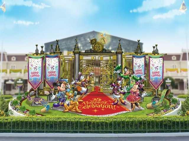▲正門入口內的花壇將以迪士尼明星,於紅毯兩側迎接遊客的情境作為嶄新的照相景點。(圖/tokyodisneyresort.jp)
