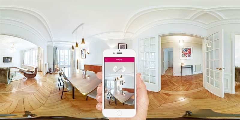 用戶僅透過智慧手機(Android或iOS) 搭配720º鏡頭及自轉儀使用,即可快速自建沈浸感十足且畫質高達8K的VR實境內容。