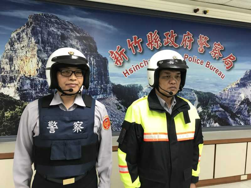 「無線騎士」受到肯定,新竹目前已有百名員警使用中。(公關圖片)