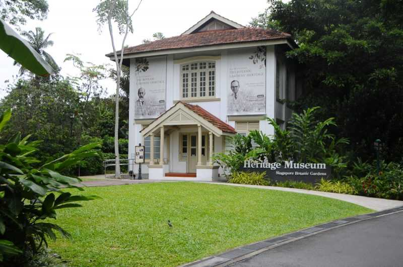 ▲新加坡植物園遺產博物館,已列為保護文物。(特派記者杜明賢攝)