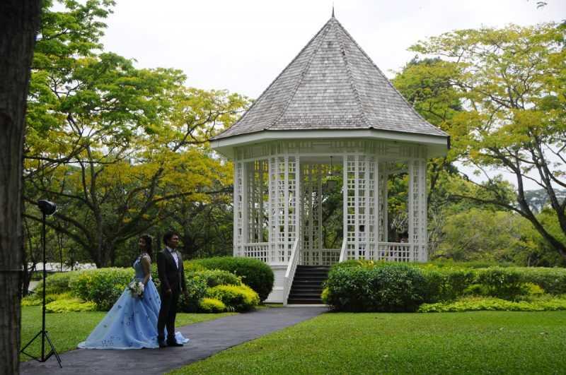 ▲植物園的美麗景觀,吸引許多人在此拍婚紗。(特派記者杜明賢攝)
